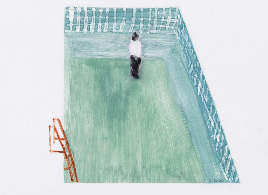 Betsy Dadd, Empty Pool, Flowers Gallery