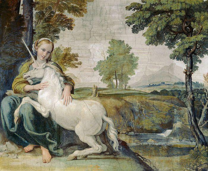 Virgin and Unicorn (A Virgin with a Unicorn)