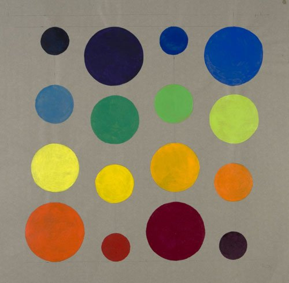 Michael Kidner Rotational Coloured Circles